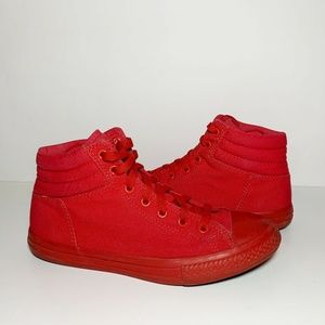 Converse All Star Red Hi High Top Sneakers Junior